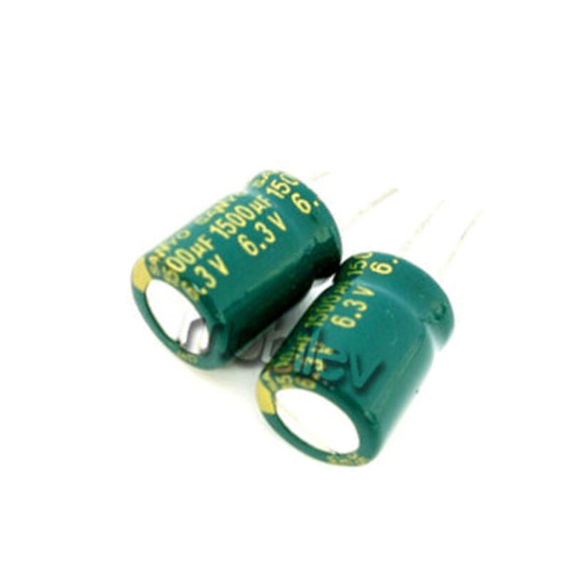 20 1500uF 6.3V Radial Electrolytic Capacitor 10 x 13mm