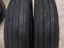 Two 590 15590x15 Rib Implement Discdo Allwagon 4 Ply Tube Type Tractor Tires