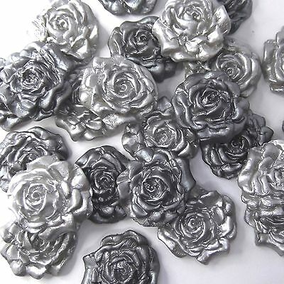 12 MEDIUM 3D TOPPERS IN SILVER AND WHITE FOR ALL OCCASIONS