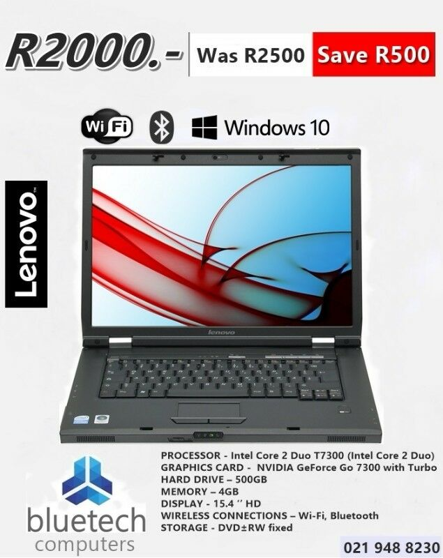 Lenovo 3000 N200 Notebook (Core 2 Duo 2GHz, 4GB RAM, 500GB HDD)