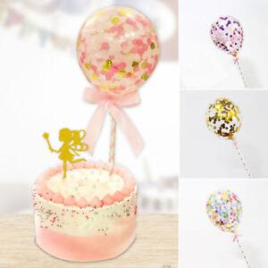 Baby-Shower-Confetti-Palloncino-cake-topper-inserto-in-Lattice-Festa-Matrimonio-Accessorio