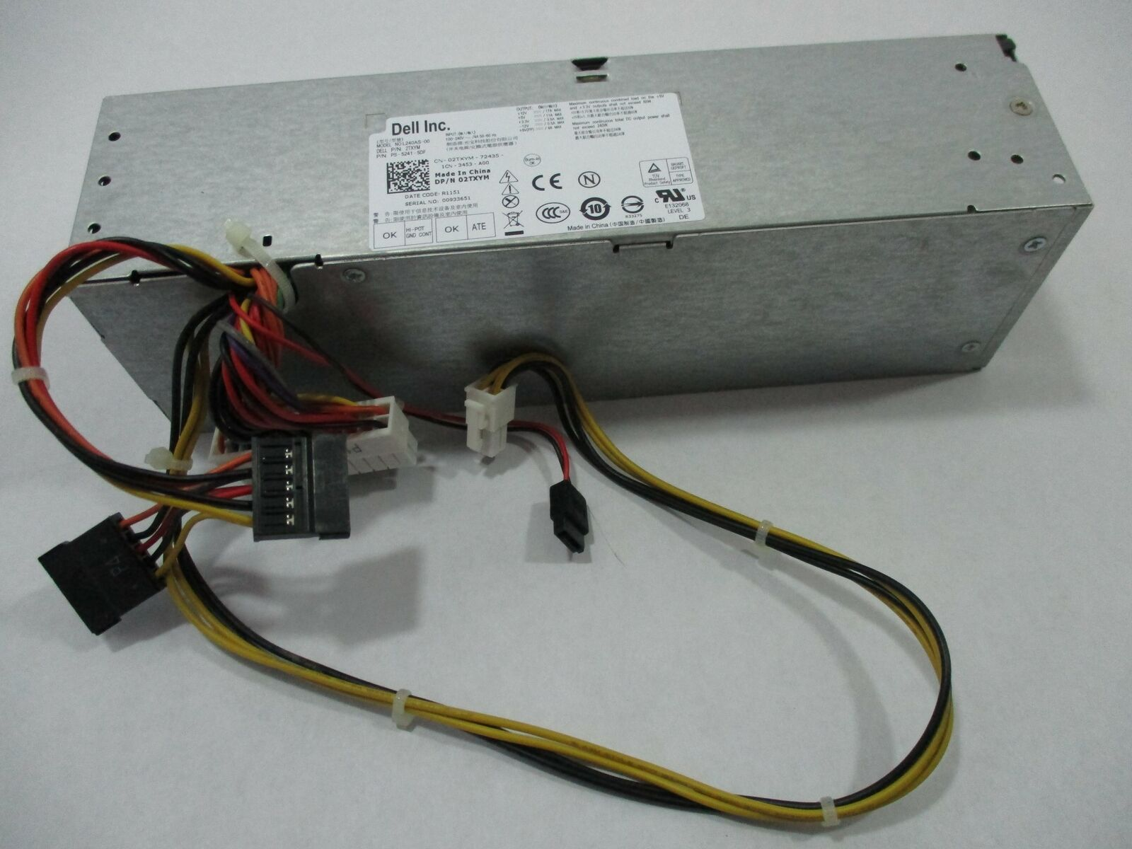 Lot of 10 OEM Dell OptiPlex 240W SFF H240AS-01 Power Supply 03YKG5 0709MT 3WN11