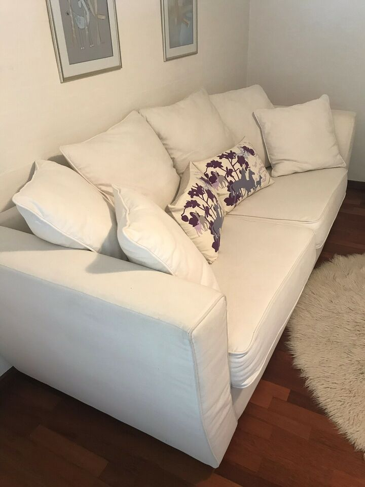 Sofa, bomuld, 3 pers.