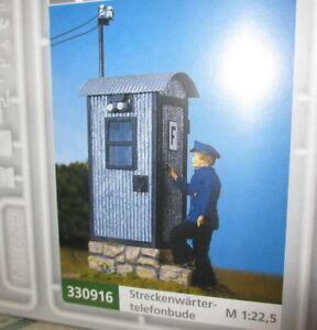 Pola-330916-Spur-G-Streckentelefonbude-fuer-Gartenbahn-1-22-5-NEU