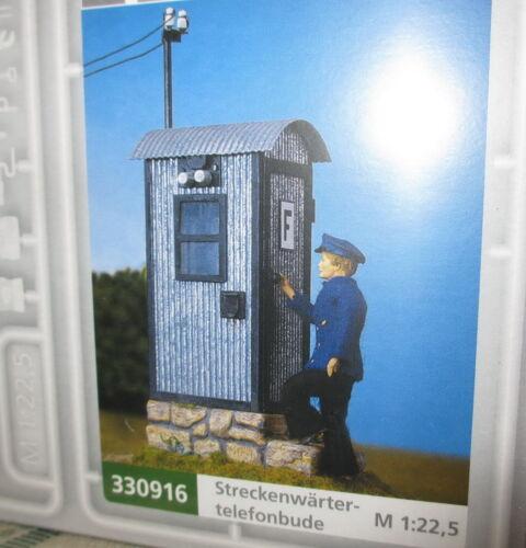 Pola 330916 Spur G /_ Streckentelefonbude /_ für Gartenbahn 1:22,5 /_/_ NEU