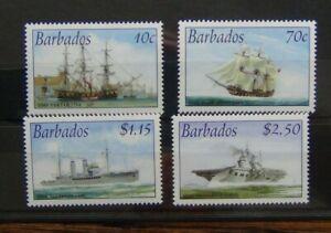 Barbados-2003-connessioni-Royal-Navy-Set-Gomma-integra-non-linguellato