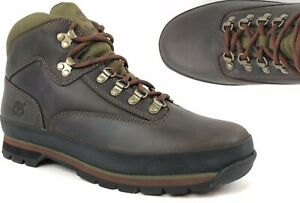 Timberland-MEN-039-S-CLASSIC-LEATHER-EURO-HIKER-Brown-Ankle-Shoes-BOOTS-hiking-6534A