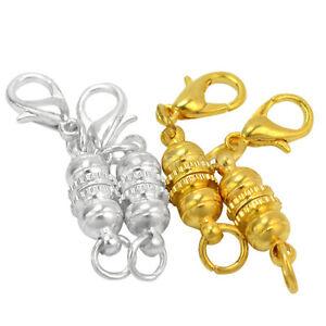 4X Strong Magnetic Necklace Clasps Jewellery DIY Bracelet Connectors 6mm EC