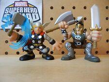 Marvel Super Hero Squad COMPLETE Wave 8: ARES & THOR Blue Lightning Avengers