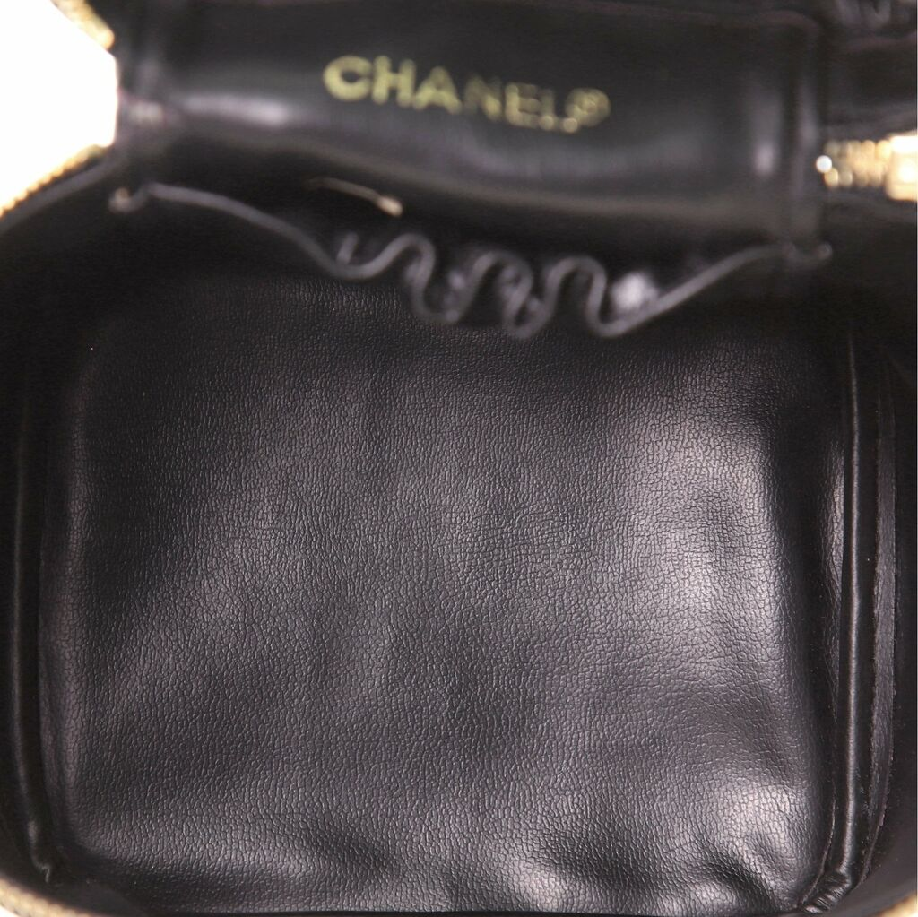 Chanel Vintage Cosmetic Case Quilted Lambskin Tall    eBay