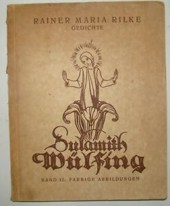 Details About Rainer Maria Rilke Gedichte 1932 Germany Art Colored Illustrations Print