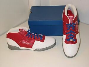 d4d98cd0dbf3f1 Reebok Workout Mid Ice Classic Trainer White Red Leather Sneakers ...