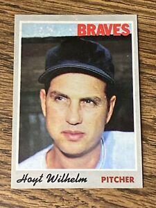 Vintage-1970-Topps-17-HOYT-WILHELM-White-Sox-Braves-Giants-P-HOF-RARE-NrMt-Mt