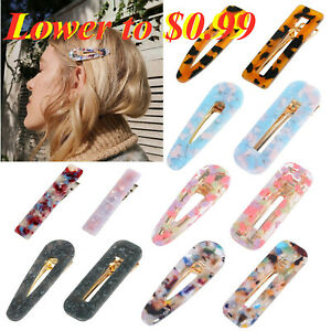 Fashion-Women-039-s-Hair-Slide-Clips-Snap-Barrette-Hairpin-Pins-Hair-Accessories