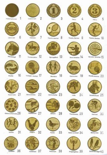 Gravur und Emblem   E222 3er Serie Pokale in Silber//Gold 34-40 cm inkl
