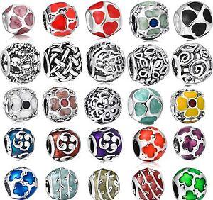 Colorful-Enamel-Round-Openwork-Bead-Fit-Diy-European-925-Silver-Charm-Bracelets