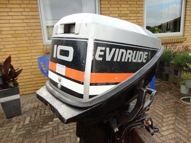 Evinrude påhængsmotor, 10 hk, benzin