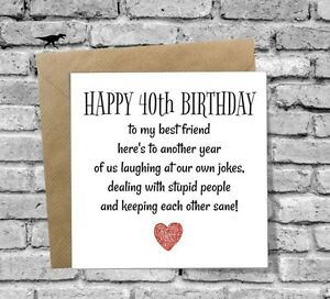 Image Is Loading GREETINGS CARD HAPPY 40th BIRTHDAY FUNNY HUMOUR COMEDY