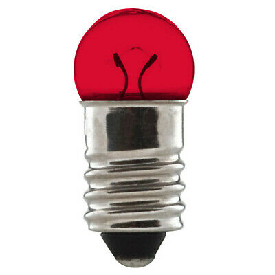 BULB 6V 0.6W E10 RED SCREW TYPE 10mm VINTAGE CYCLE BIKE LAMP DYNAMO LIGHT