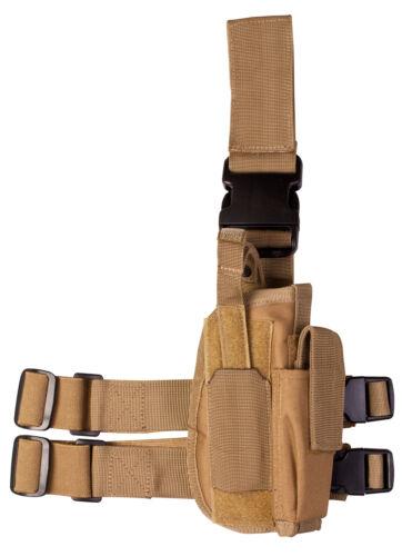 Pistolet Tactique Pistolet HOLSTER drop leg coyote tan beige droit universel ceinture de l/'armée