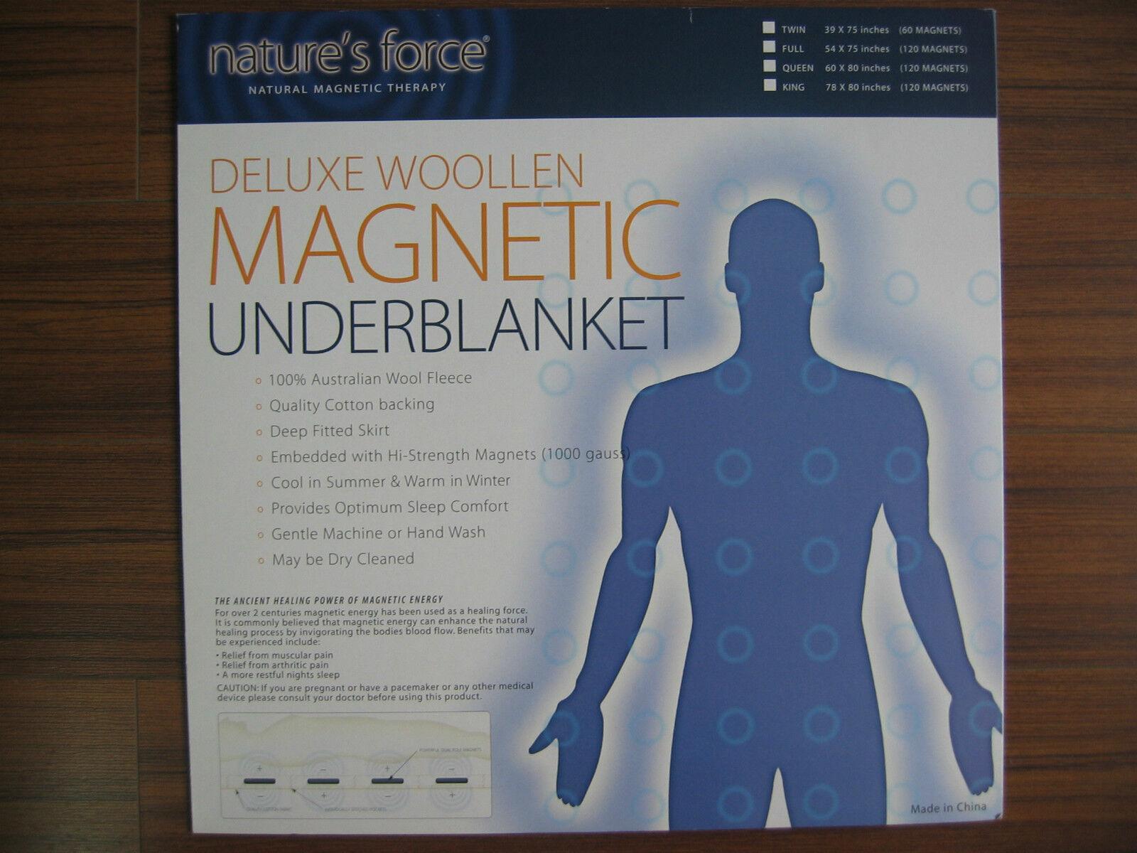 WOOL MAGNETIC MATTRESS PAD-Merino Wool Deluxe Magnetic Mattress Pad-(Queen Größe)