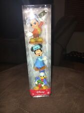 Disney Mickey's Christmas Carol Figures- Mickey Mouse, Minnie Mouse & Donald