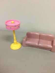 Pleasant Details About Dora The Explorer Dollhouse Living Room Furniture Sofa Couch And Floor Lamp Machost Co Dining Chair Design Ideas Machostcouk