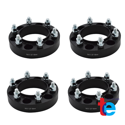 4 x1.25/'/' 6 Lug Black Hubcentric Wheel Spacers Adapters 6x5.5 for Toyota Tacoma