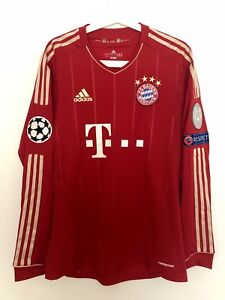 release date: 9260a 303eb Details about SCHWEINSTEIGER, 2012-13 BAYERN MUNICH HOME CHAMPIONS LEAGUE  MATCH UN WORN SHIRT