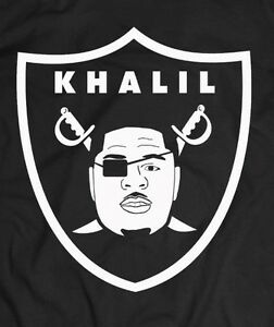 OAKLAND RAIDERS BLACK HOLE CUSTOM ***KHALIL MACK*** Mens T ...