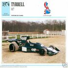 TYRRELL 007 1974 CAR VOITURE GREAT BRITAIN GRANDE BRETAGNE CARTE CARD FICHE