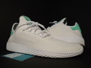 088fd33e5aa3 ADIDAS PW TENNIS HU HUMAN RACE PHARRELL WILLIAMS WHITE GREEN GLOW ...
