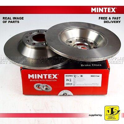 2X MINTEX REAR DISC BRAKES MDC1744 FOR AUDI A6 AVANT 2.0 2.4 2.7 2.8 3.0 3.2
