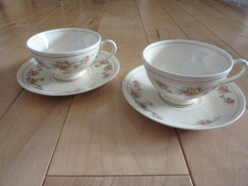 HOMER LAUGHLIN GEORGIAN COUNTESS EGGSHELL TWO CUPS AND TWO SAUCERS