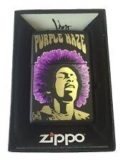 Zippo Custom Lighter JIMI HENDRIX ROCK STAR PURPLE HAZE Black Matte 218 Gift USA