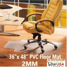 36x 48 Home Office Chair PVC Floor Mat Studded Back with Lip For Pile Carpet SE
