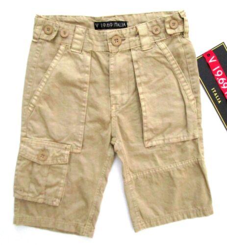 Versace V 19.69 ITALIA Boys Khaki Cargo Adjustable Waist Shorts MSRP $56