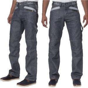 ENZO-Jeans-Para-Hombre-Pierna-Recta-Disenador-Jeans-Pantalones-Regular-Fit-para