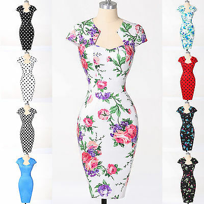 FREE SHIP Swing 60's 50's VINTAGE Rockabilly Pinup Formal Evening Prom Dress NEW
