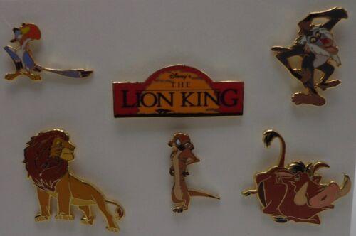 Disney Dlr Gwp Roi Lion Carte Broche Mini 6 Broches Ensemble