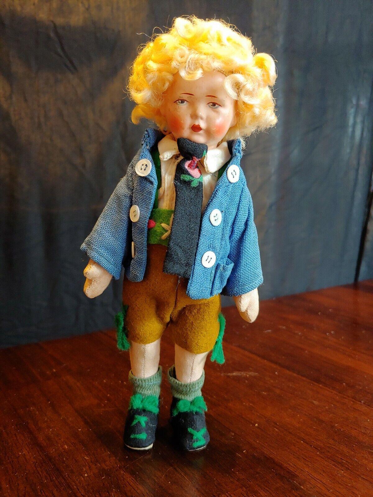 Bing Brojohers Art Dolls German Boy Felt & Composition Doll VG- 1920 like Lenci