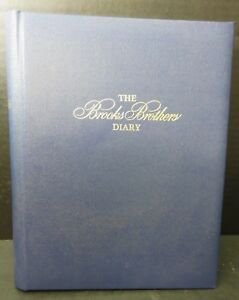 Vintage-1986-Brooks-Brothers-Record-A-Day-Diary-Unused-Like-New-Condition