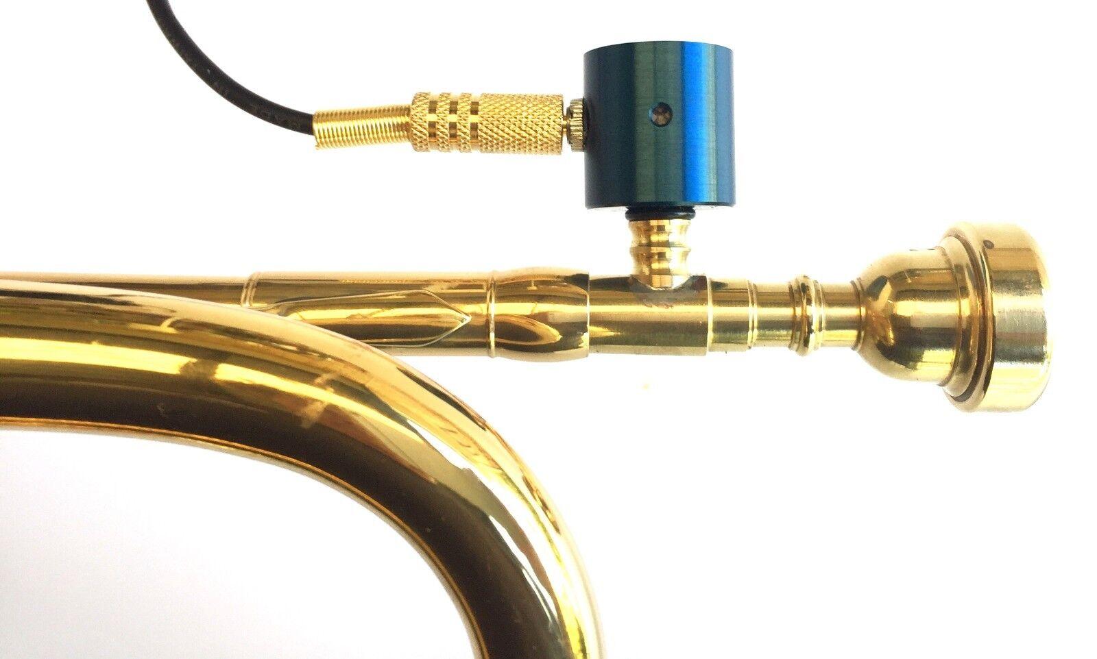 Micrófono de de de recogida trompeta piezobarrel P9 y 4 metros de cable y accesorios de latón 61120f
