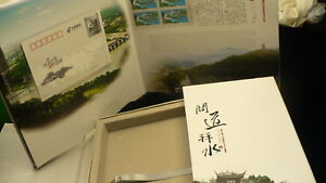 Chinese-postage-stamps-souvenir-book-postcards-mint-50-CNY-amp-2-sheets-6-cards