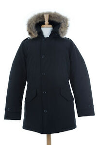Woolrich-John-Rich-amp-Bros-Men-039-s-Polar-Parka-Black-Size-M