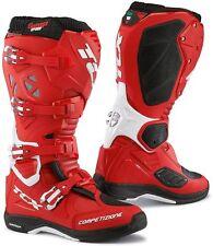 STIVALI BOOTS MOTO MX CROSS ENDURO TCX COMP EVO MICHELIN ROSSO RED WHITE TG 42