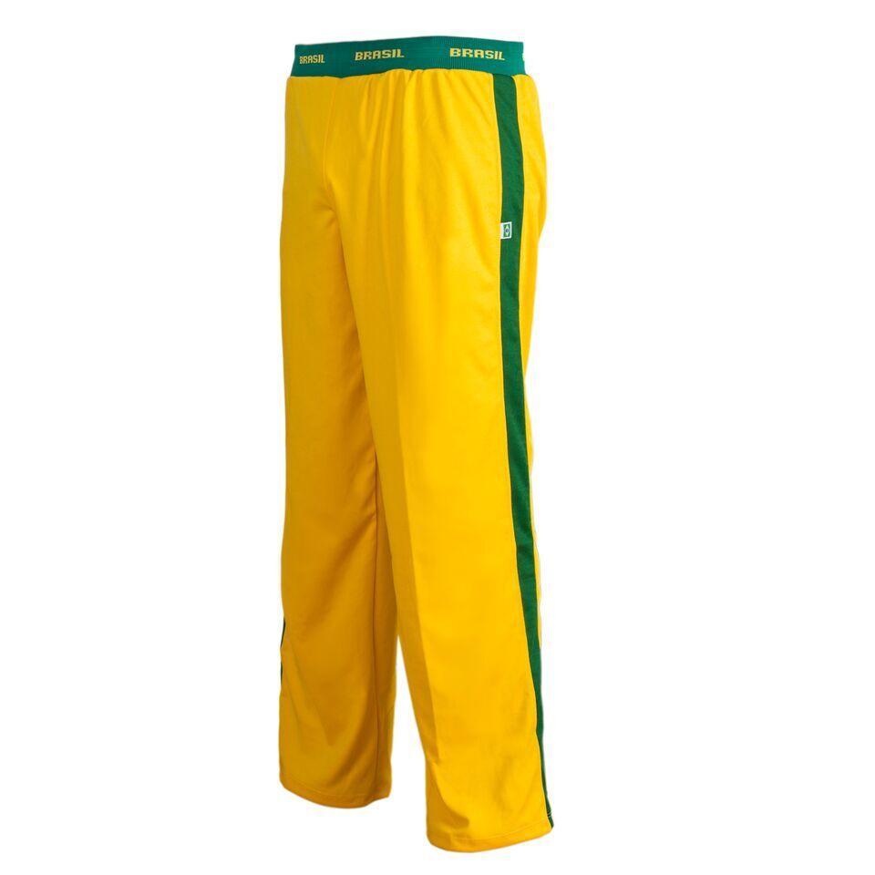 Unisex Yellow Brazil Capoeira Abada Martial Arts Elastic Trousers Pants 5 Sizes