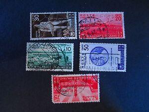 Italy-Scott-Catalog-359-63-Used-WDWPhilatelic