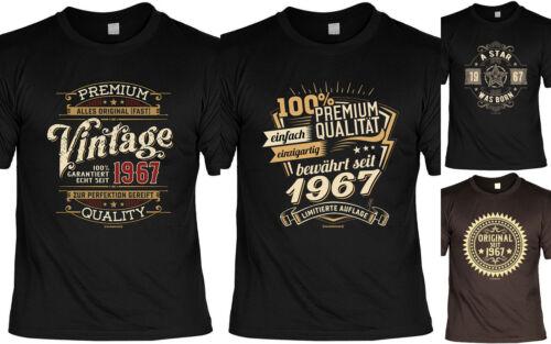 T-Shirt zum 52.Geburtstag 52 Jahre Coole Sprüche Motive Geburtstag 1967 Jahrgang
