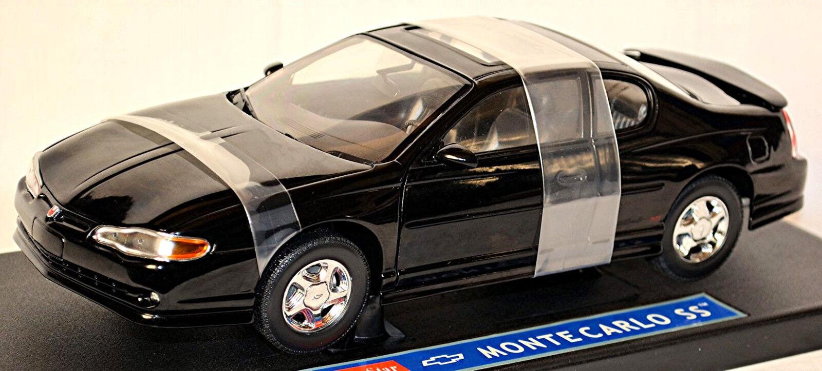garantito Chevrolet Monte autolo Ss Ss Ss Coupè 1999-2005 Nero 1 18 Sun Estrella  popolare